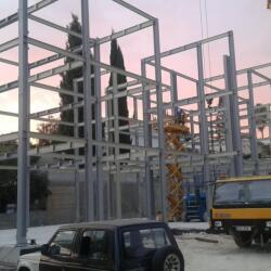 Steel Frame Private Residence In Erimi Construction Process